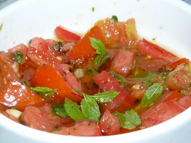 salsa pomodoro e menta