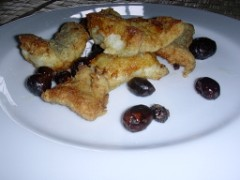 baccalà fritto con le olive