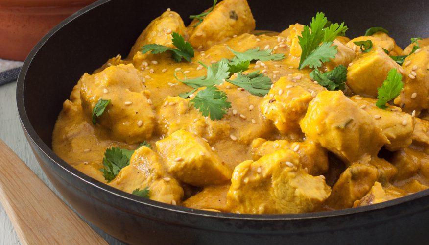 pollo al curry riso venere