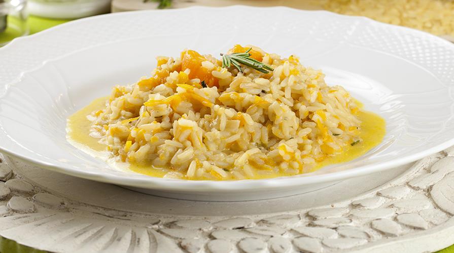 risotto al gorgonzola con mostarda di pere