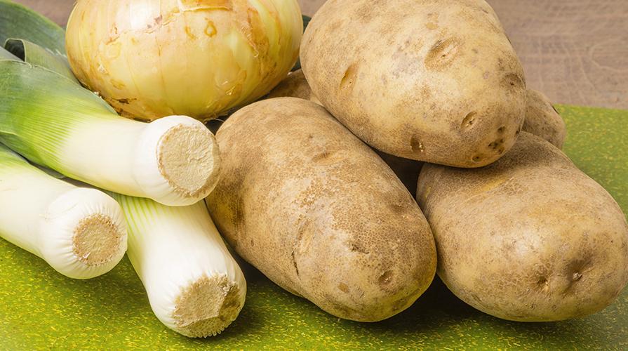 minestra di patate e porri