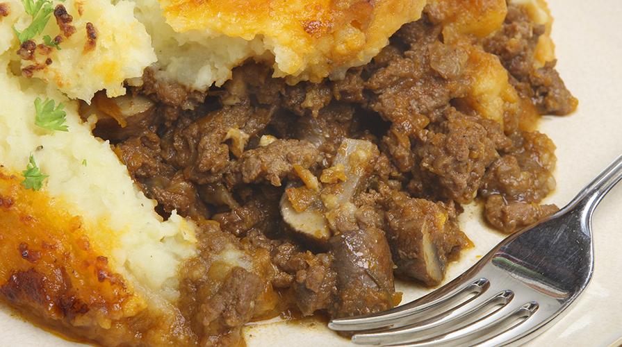tiella di carne funghi e patate