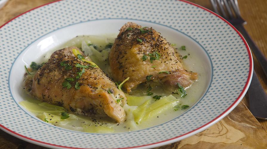 pollo saltato ai finocchi