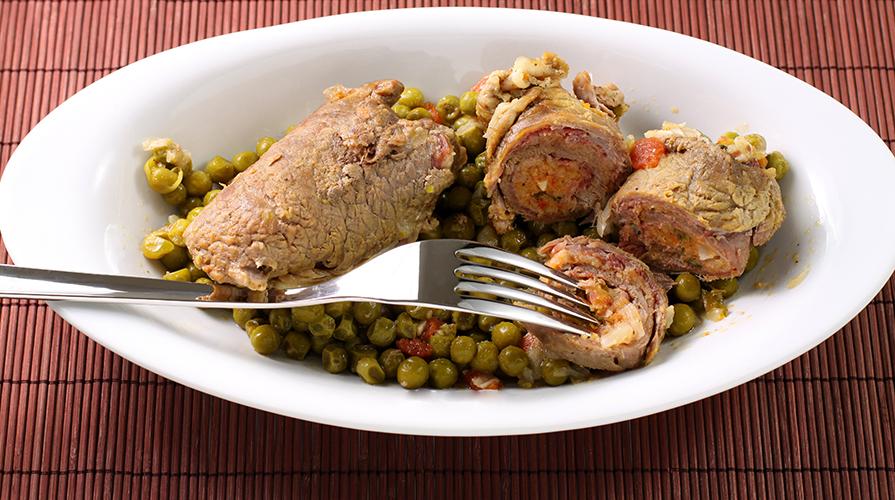 Ricetta involtini di carne con piselli giornale del cibo for Ricette cibo