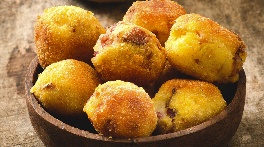 polpettine di patate e mozzarella