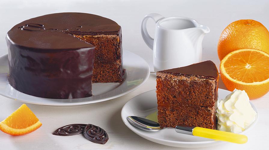 torta di cioccolato e arancia