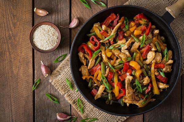 wok cottura al salto