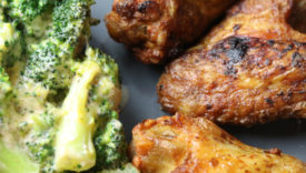 ali di pollo e broccoli