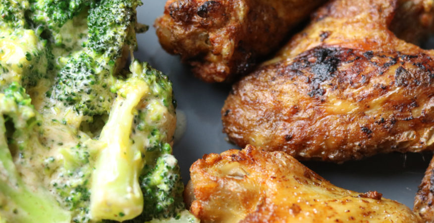 ali di pollo e broccoli