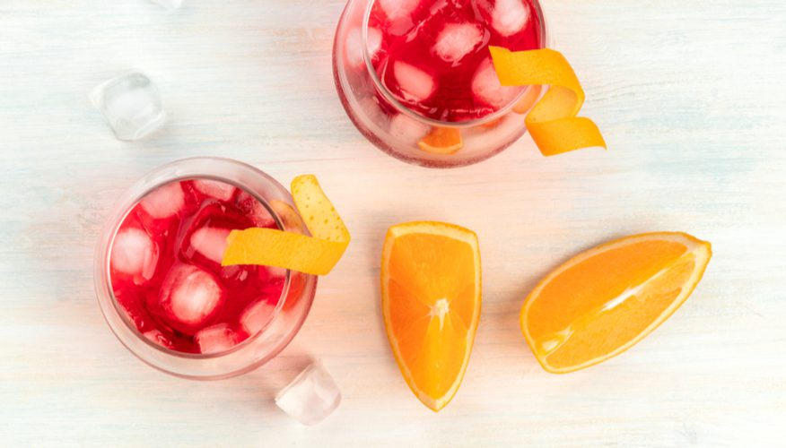 liquore fragole arance