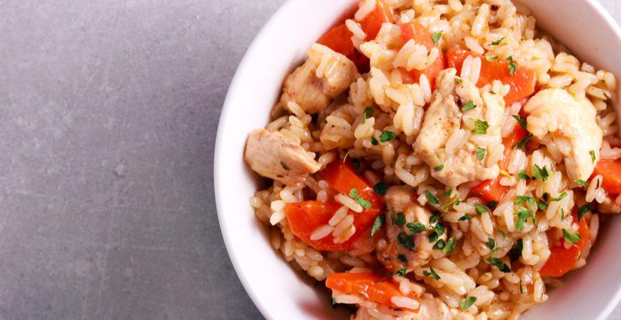 insalata di riso e pollo
