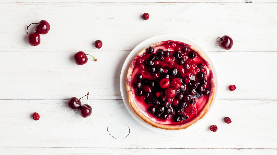Torta yogurt- frutti di bosco