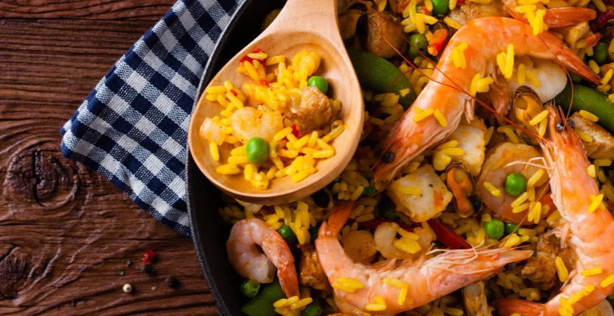 Ricetta Paella Con Carne Pesce E Verdure Giornale Del Cibo