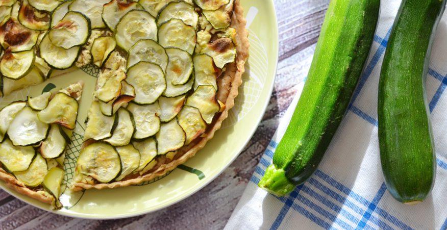 crostata affumicata di zucchine