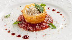 nidi di spaghetti al forno