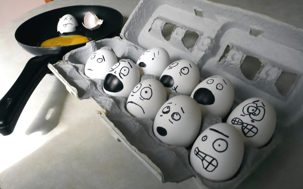Egg Face Art