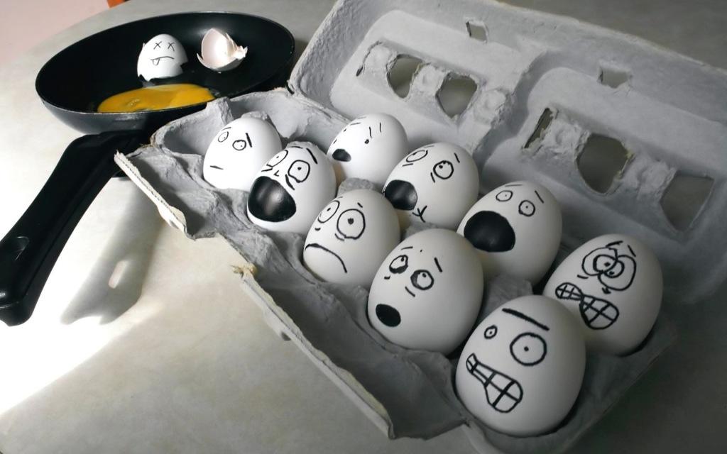 Egg Face Art