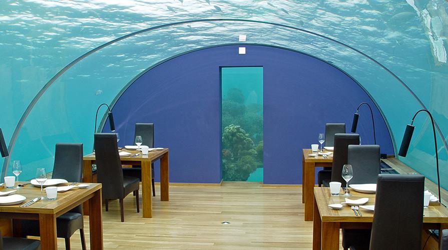 Ithaa ristorante sott' acqua