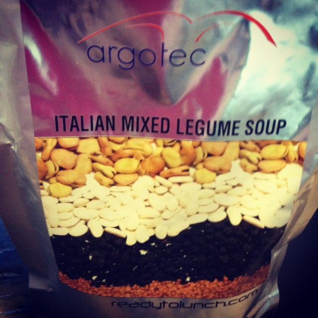 Zuppa di legumi Slow Food nello spazio
