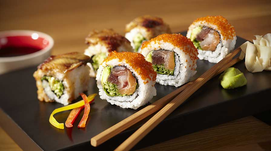 piatto bacchette cucina giapponese