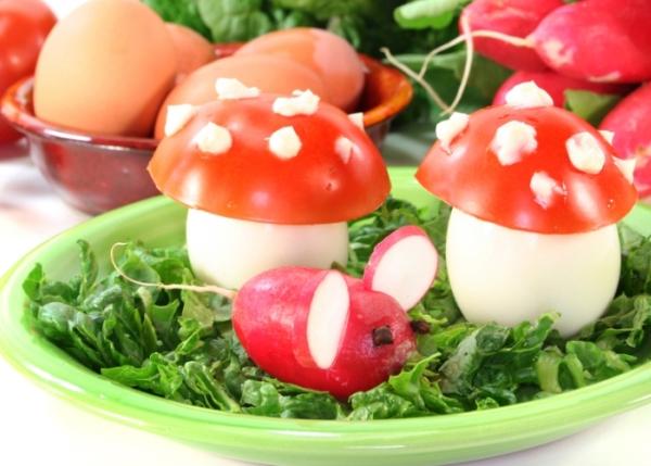 uova sode a funghetto