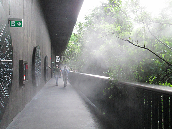 Padiglione Austria nebulizzatori