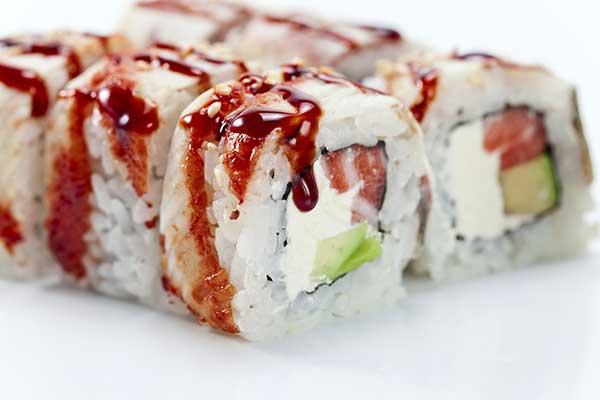 Sushi vegetariano alla frutta