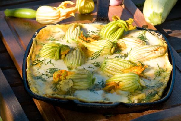 frittata fiori di zucca