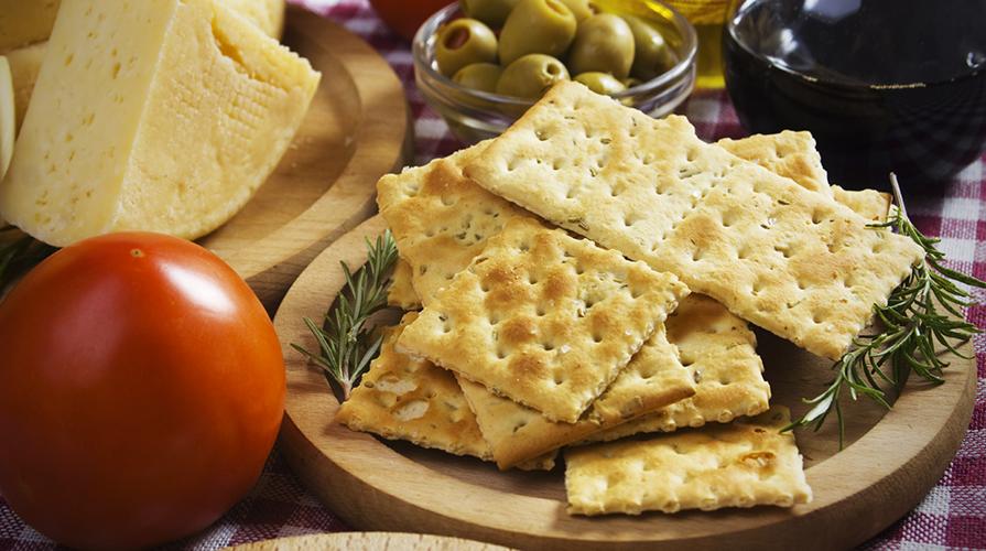 Crackers senza olio di palma