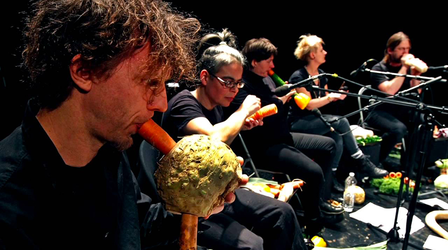 Vegetable Orchestra in concerto