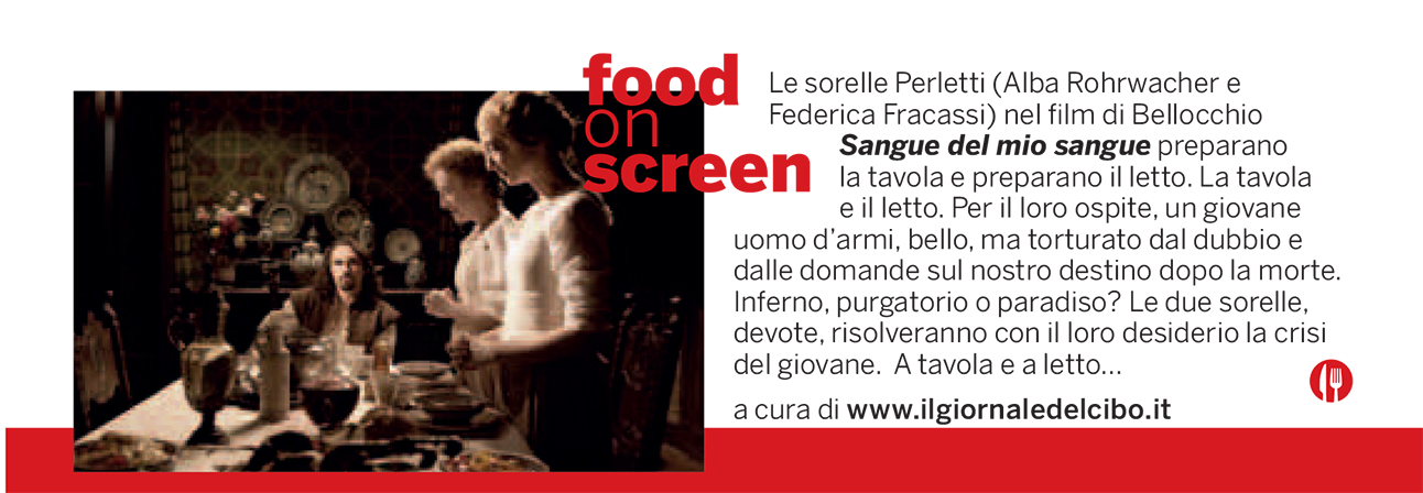 Food on screen 10 sttembre