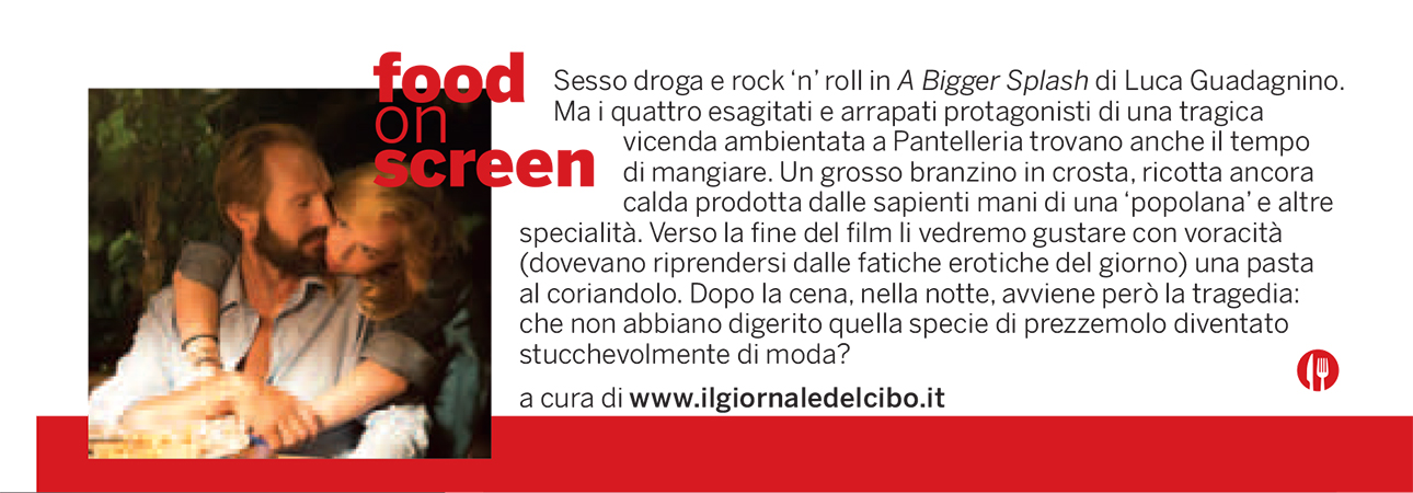 Food on screen 8 settembre