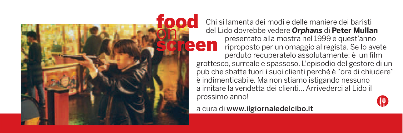 Food on screen 11 settembre