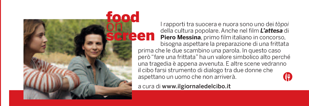 Food on screen 6 settembre