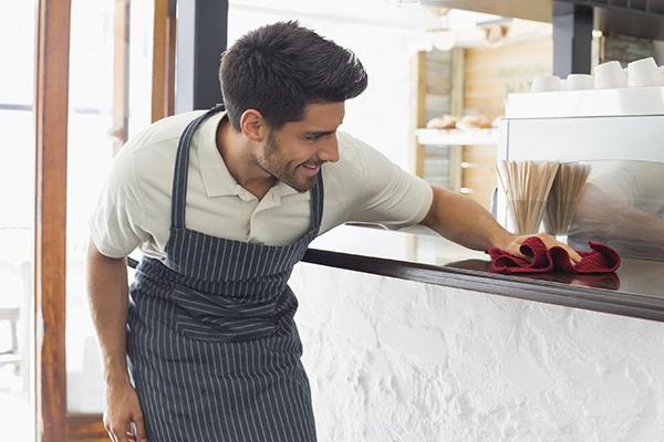 Pulizia nei ristoranti