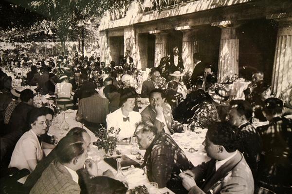 Italiano a tavola giardino
