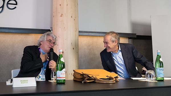 Mario Botta e Giuliano Gallini