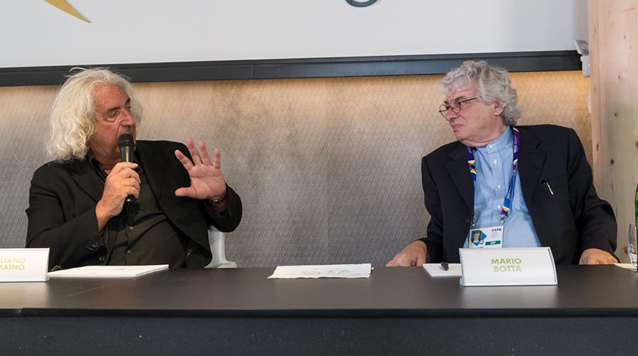 Giuliano Tomaino e Mario Botta
