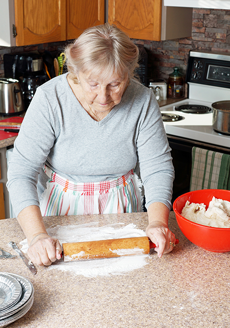 Nonna con grembiule