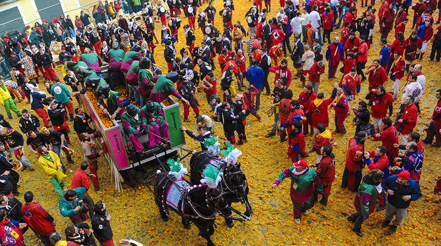 Feste di Carnevale con il Cibo