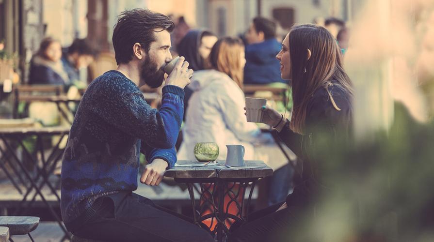 Bere caffè Italia