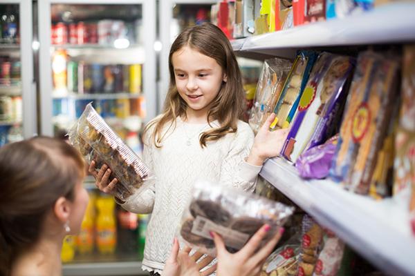 Bambini supermercato
