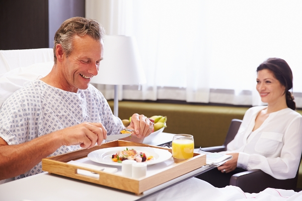 mangiare in ospedale