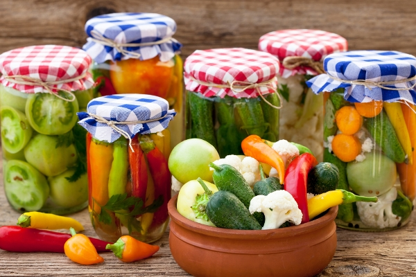 barattoli verdure fermentate