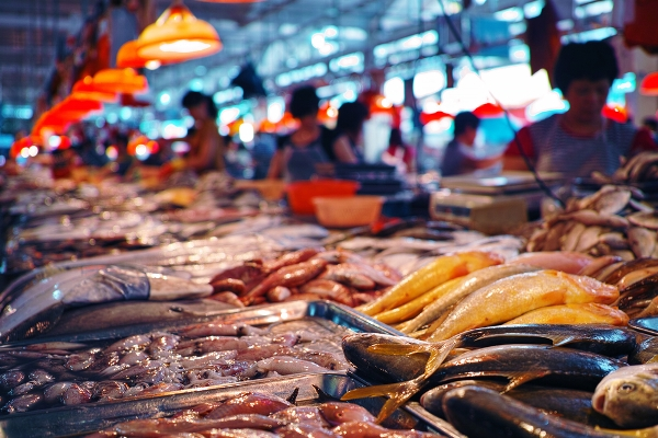 etichetta pesce mercato