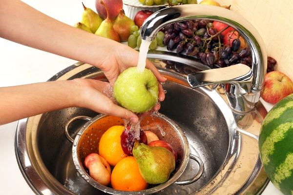 lavare frutta
