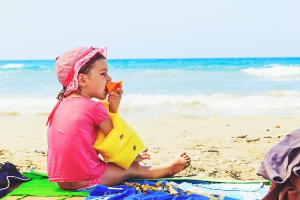 mangiare in spiaggia