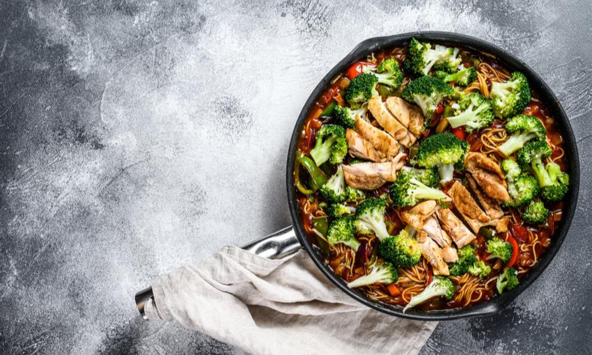 pollo wok