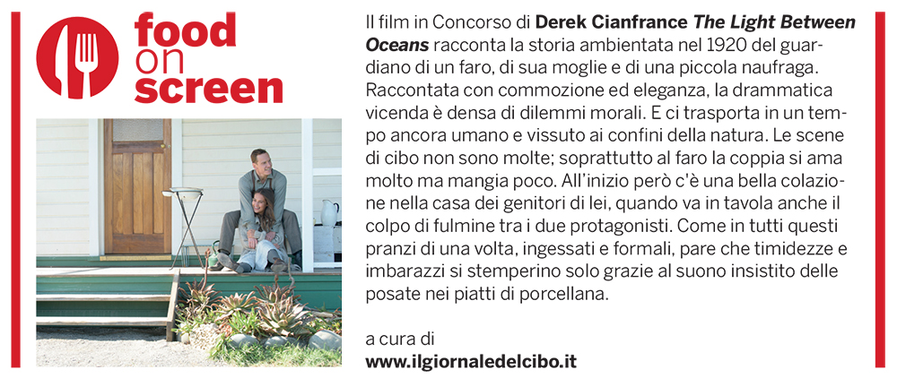Food on screen 4 settembre
