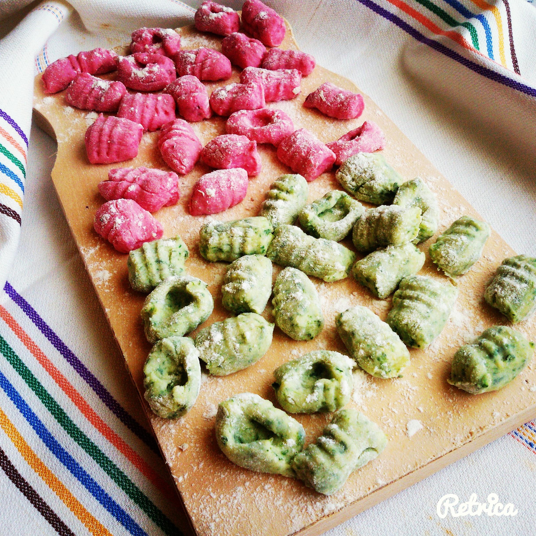 Gnocchi spinaci e barbabietola